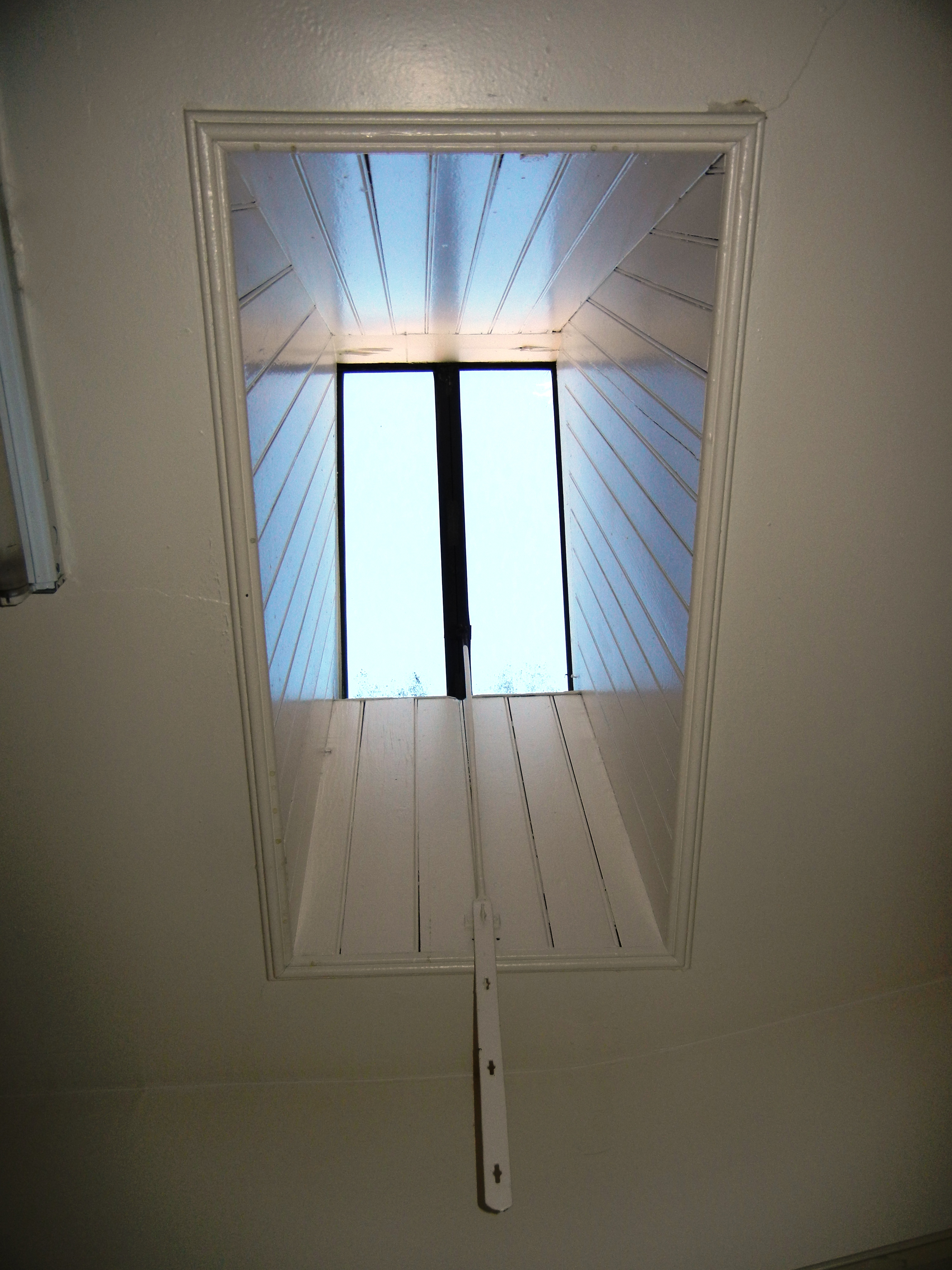 Both Windows Are Attached To And Can Be Opened By A Metal Rod And A Rope  (though They Seldom Are As Birds Inevitably Fly In And Around The House).