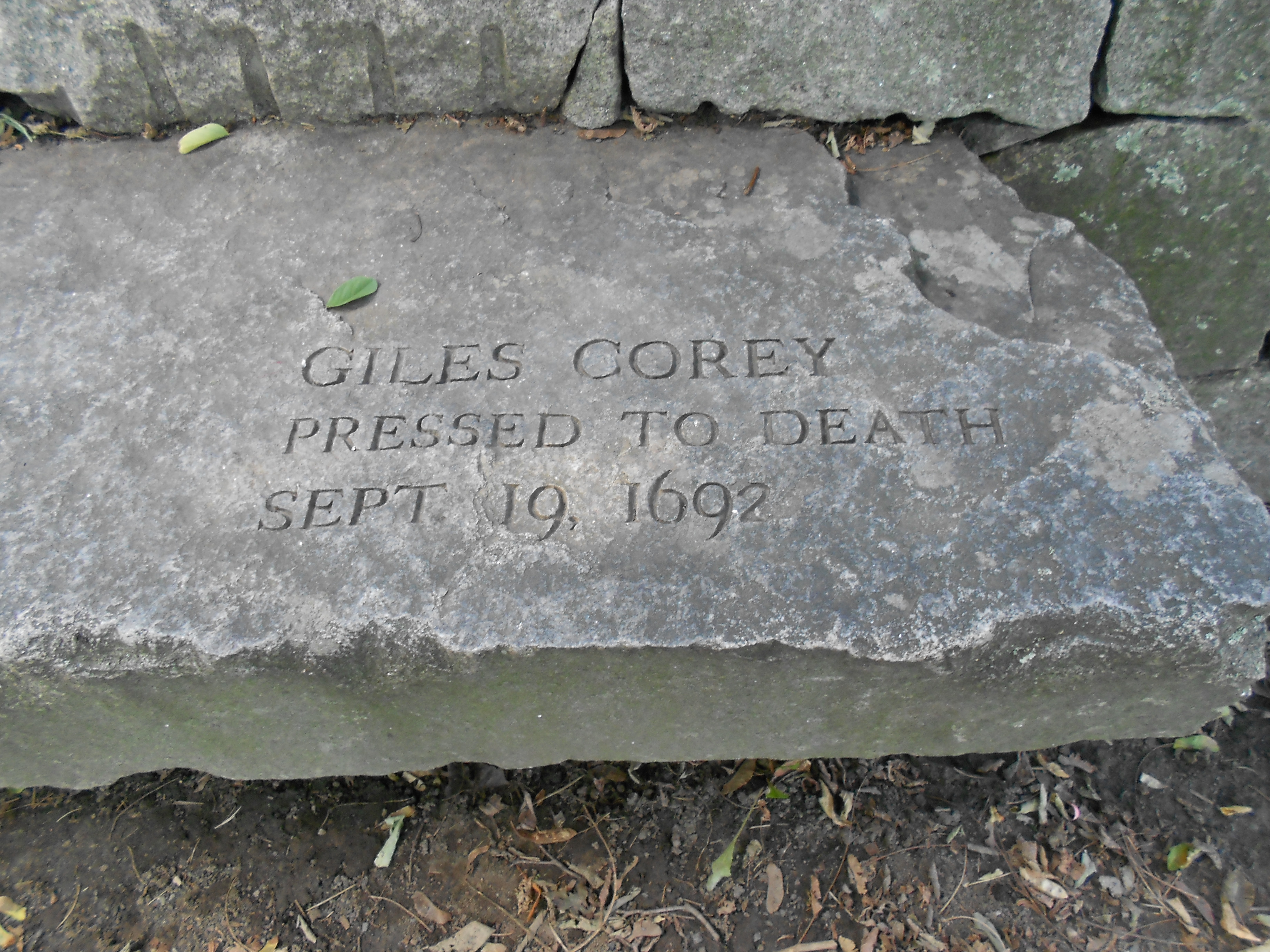 salem witchcraft trials giles corey These are the sources and citations used to research salem witch trials this bibliography was generated on cite this for me on friday, may 12 the salem witchcraft trials of 1692 giles corey, the only man pressed to death in america (salem witch trials.