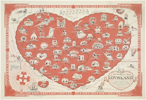 Online dating site map