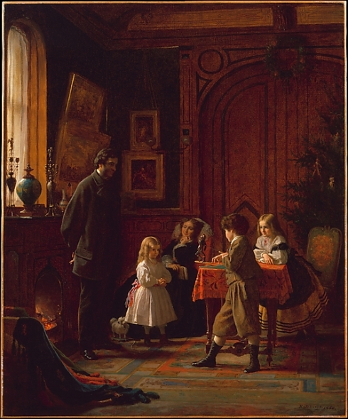 Christmas-Time, The Blodgett Family Eastman Johnson 1864