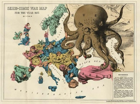 Octopus Map 1877