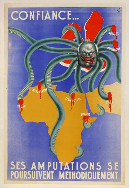 Octopus Map Churchill 1942 Vichy France