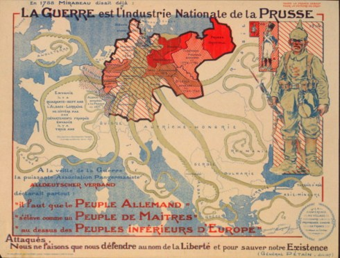 Octopus Map French 1917