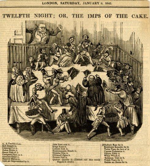 Twelfth Night Cake 1841 BM