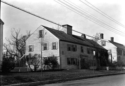 Double House Blue Anchor Tavern Newbury MA HABS 1940 bw