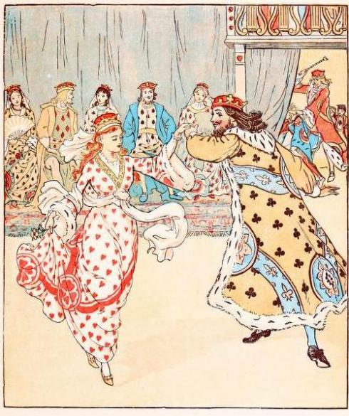 Queen of Hearts Caldecott dancing drawing