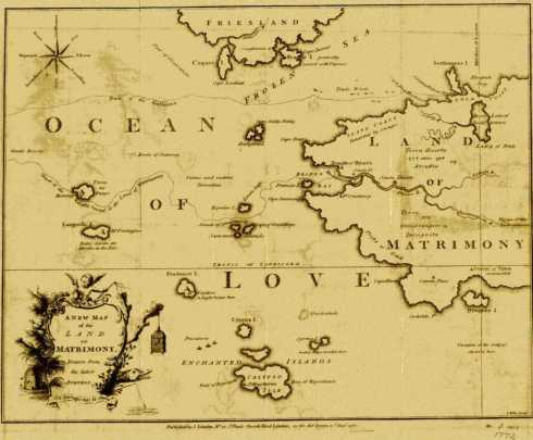 A New Map of the Land of Matrimony 1772 Yale