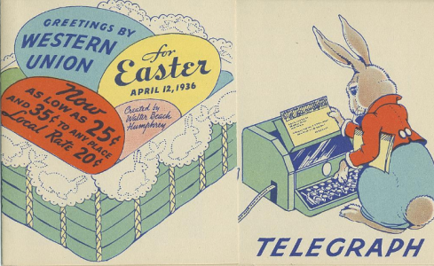 Easter 1936 ad Smithsonian