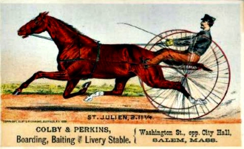 Horse and Carriage Trade Card