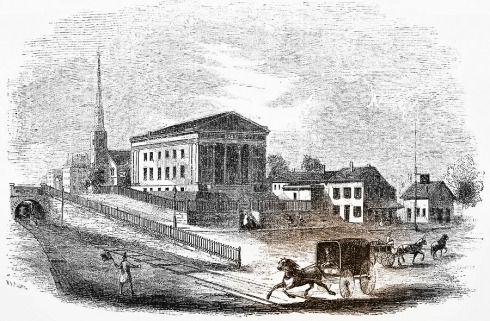 Horse and Train meet in Salem 1851