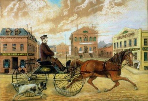 Market Square Samuel Chamberlain 1855-60