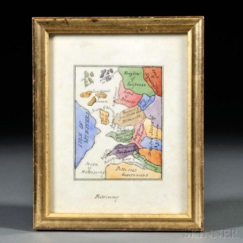 Matrimony Skinner 1824 framed