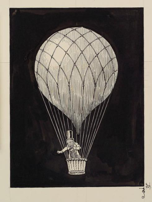 Wizard in Balloon 1901