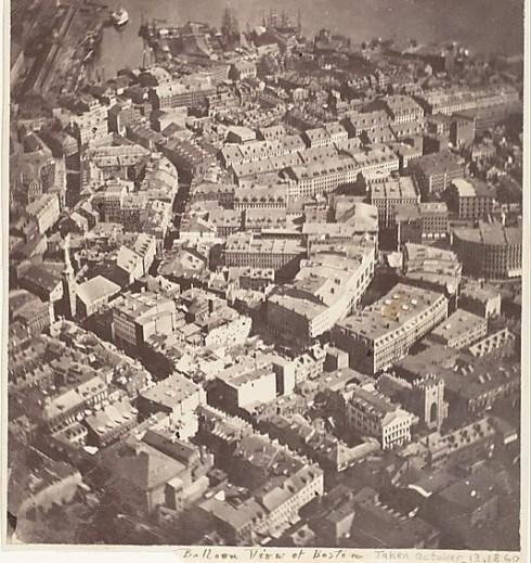 Boston Balloon View 1860
