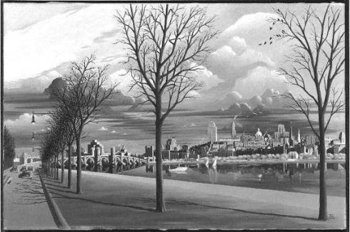 Boston Beadon Hill Fransioli 1947 MFA