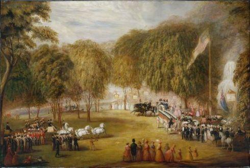 Boston Railraod Jubilee on Boston Common William Sharp 1851