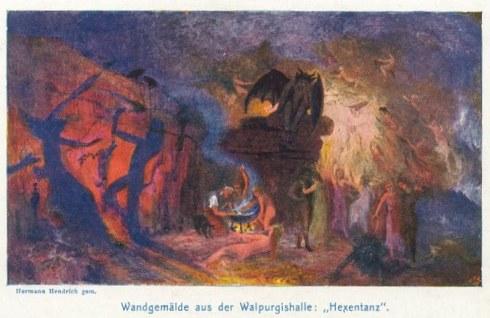 Hermann Hendrich Die Walpurgishalle in Goethes Faust