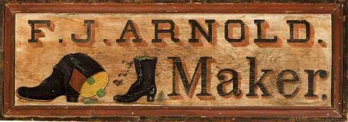 Trade Sign Salem 1880s Pollack Antiques