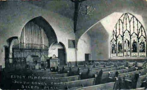 McIntire Park South Congregational Church interior 1920s