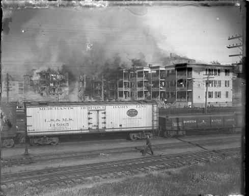 Salem Fire at its Height, BPL