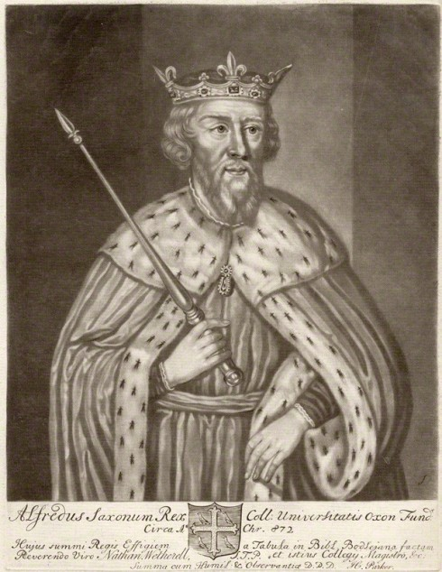 NPG D9257; King Alfred ('The Great') by John Faber Sr