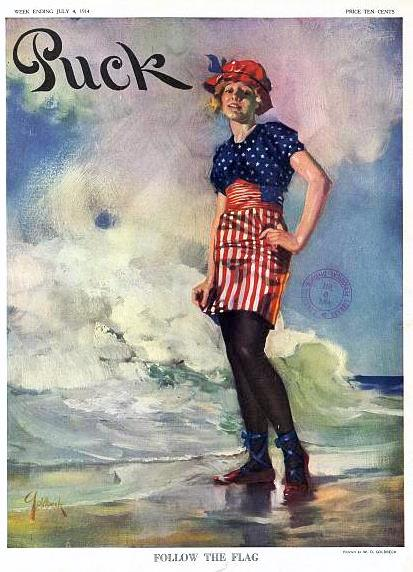 Fashionable Fourth 1914 Puck