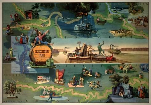 Literary Maps Huck Finn