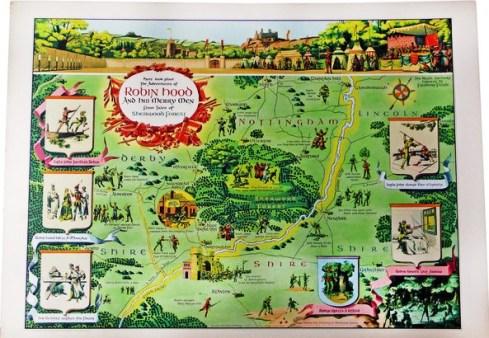 Literary Maps Robin Hood