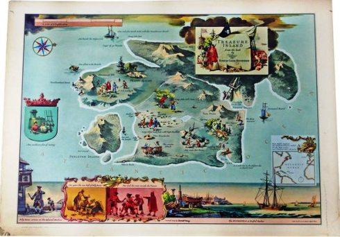 Literary Maps Treasure Island