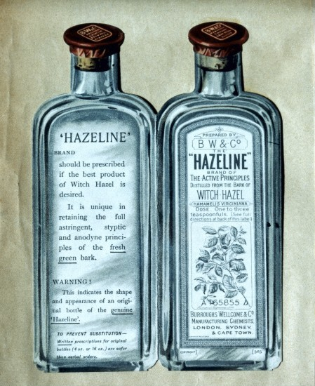 L0032213 Hazeline bottles, advertisement, 1903-04