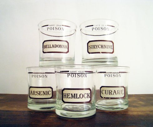 Name Your Poison Glasses Etsy