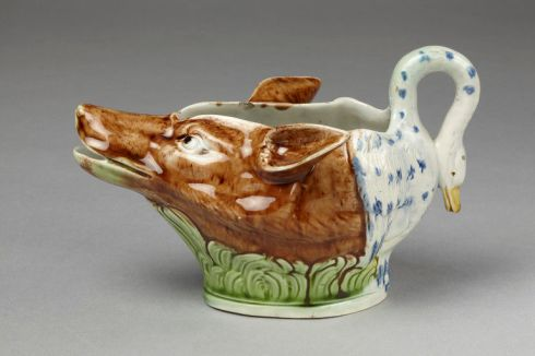 Fox and Goose Gravy Boat