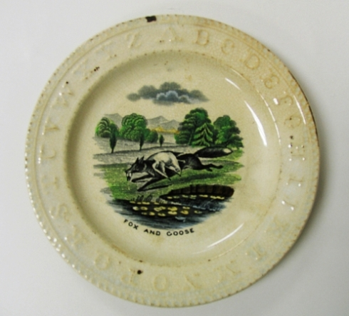 Fox and Goose plate Cooper Hewitt
