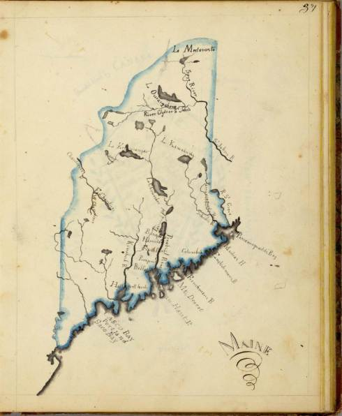 Schoolgirl map Henshaw Maine