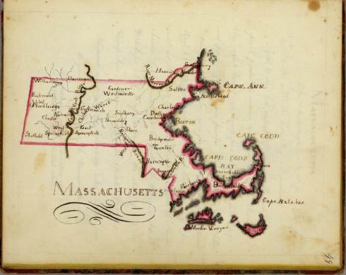 Schoolgirl map Henshaw Massachusetts