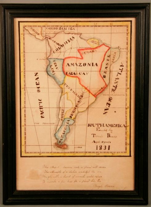 Schoolgirl map of Latin America