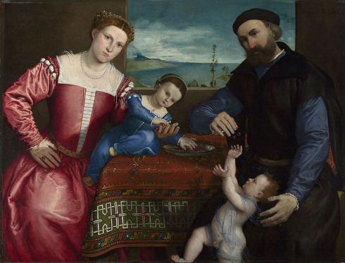 785px-Lorenzo_Lotto_-_Portrait_of_Giovanni_della_Volta_with_his_Wife_and_Children_-_Google_Art_Project