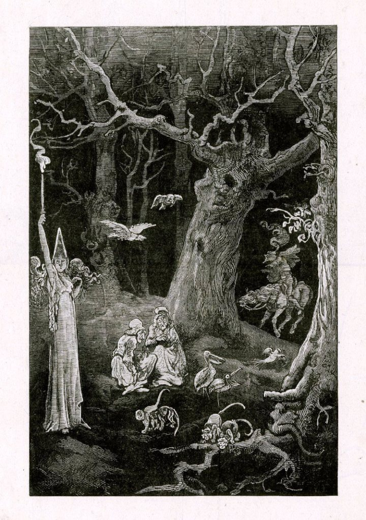 Witches under a tree 1878