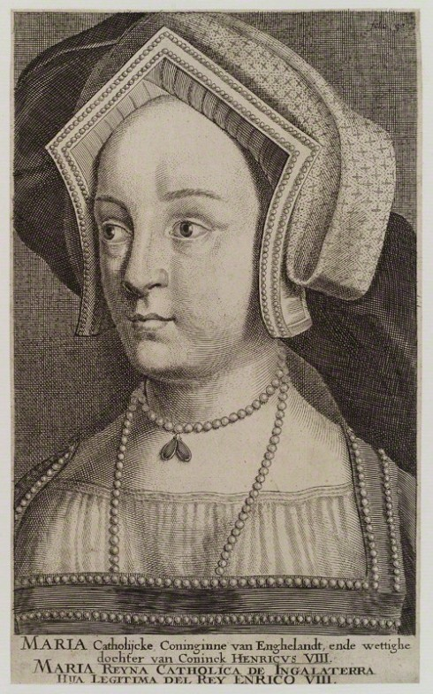 NPG D18729; Queen Mary I when Princess Mary after Hans Holbein the Younger