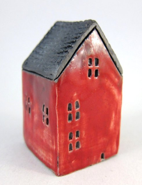 Ceramic House Red