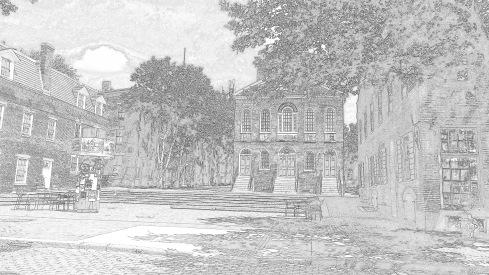 Lost Derby Square sketch