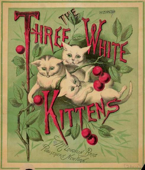 Three White Kittens 1888