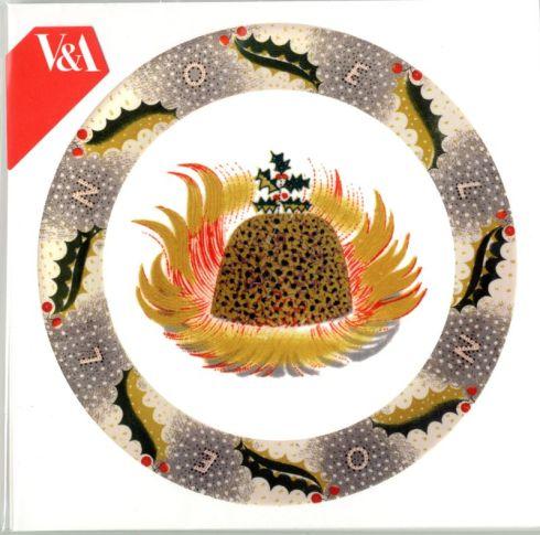 Christmas Pudding Plate Card
