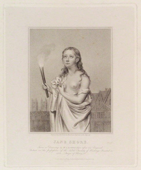 NPG D19938; Called Jane Shore by Edward Scriven, published by  Baldwin, Cradock & Joy, after  Walter Stephens Lethbridge
