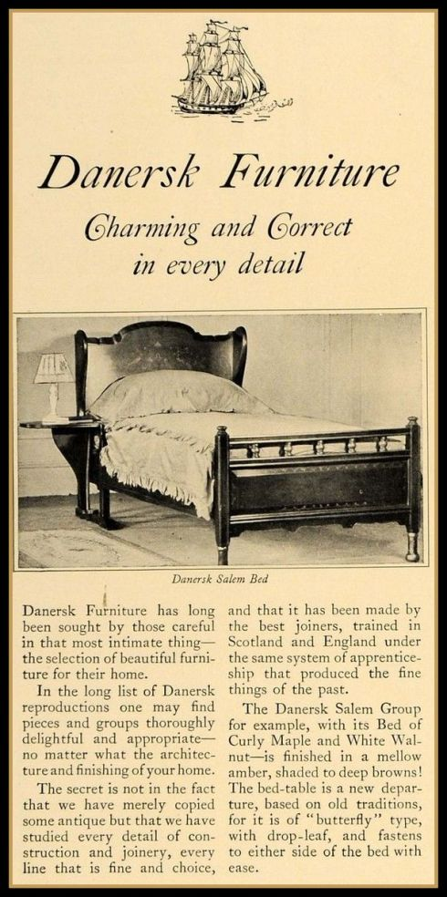 Salem bed with border