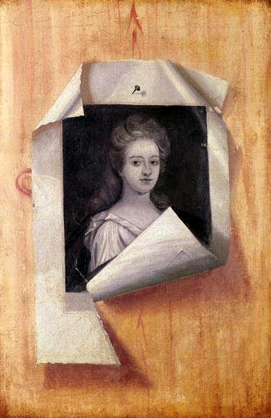 Trompe l'Oeil Portrait of a Lady (oil on canvas)