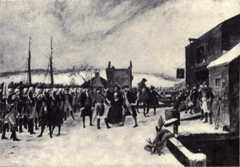 Leslies Retreat Repulse of Leslie feb 26 1775 Bridgman