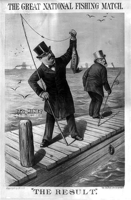 Presidents at Play Arthur 1885 LC