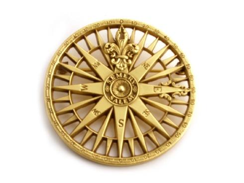 Compass Rose Brooch PEM