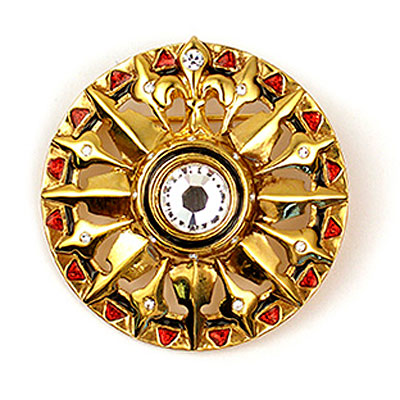 Compass Rosette Brooch Morgan